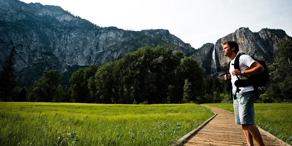 Half Dome Village In Yosemite National Park CA