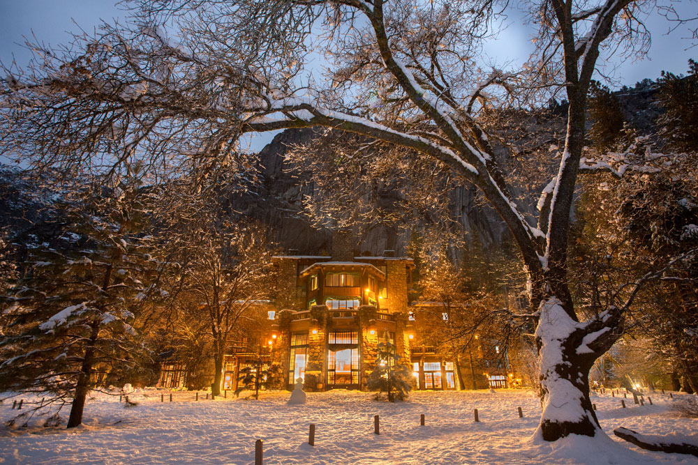 Winter at The Majestic Yosemite Hotel