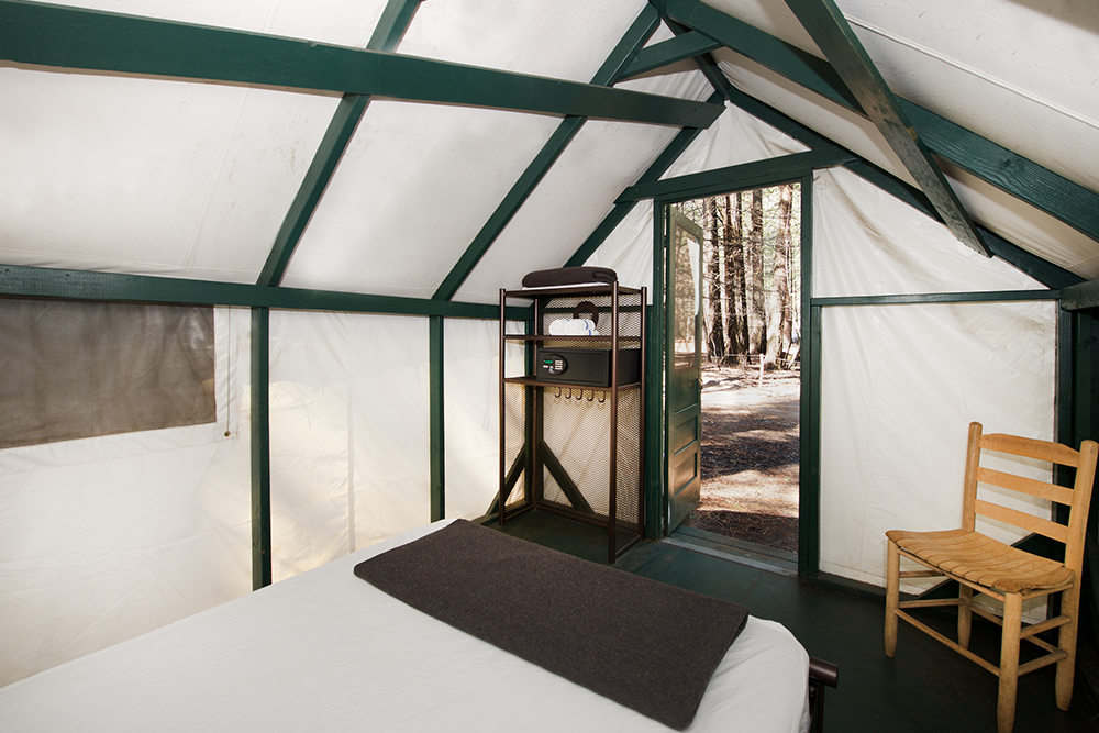 Unheated Canvas Tent Cabin