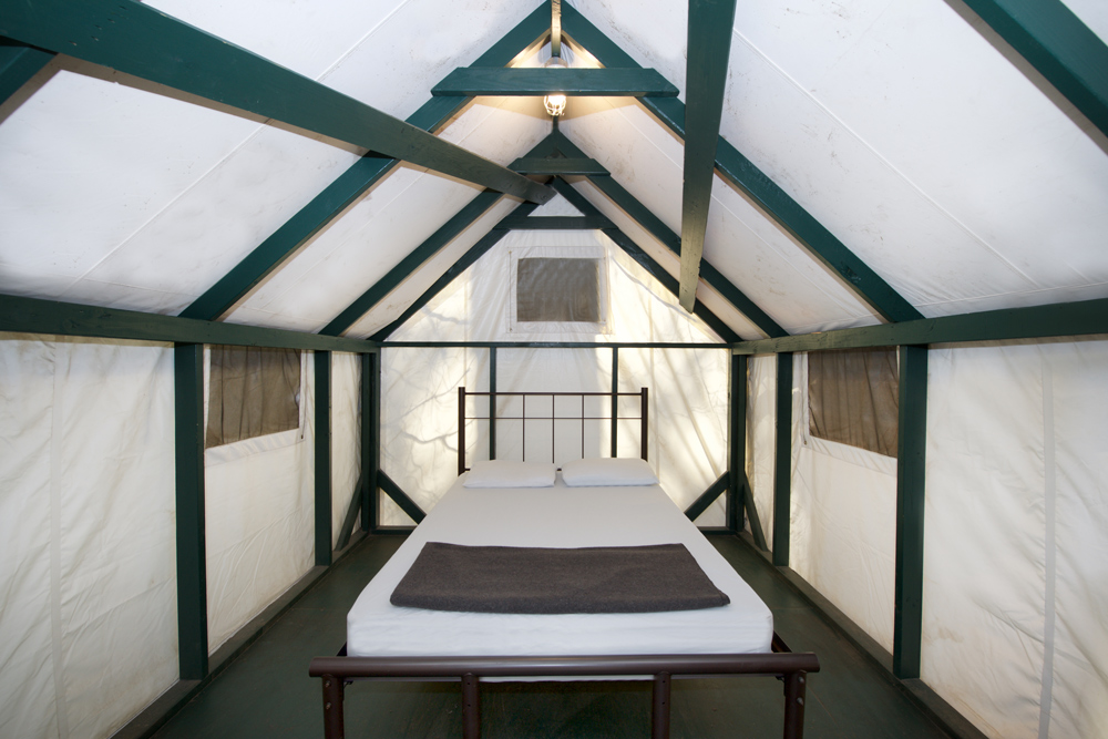 Heated Canvas Tent Cabins