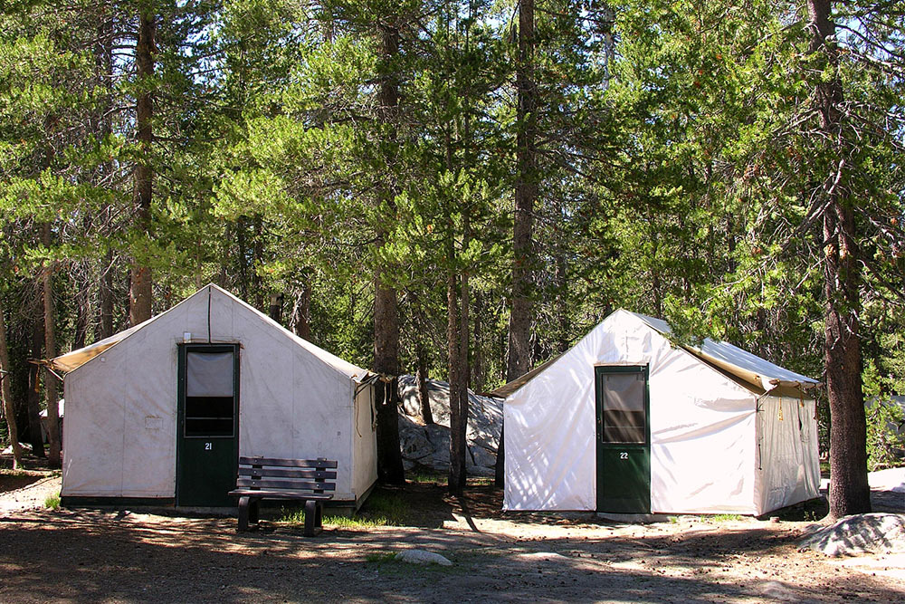 Canvas Tent Cabins at White Wolf Lodge