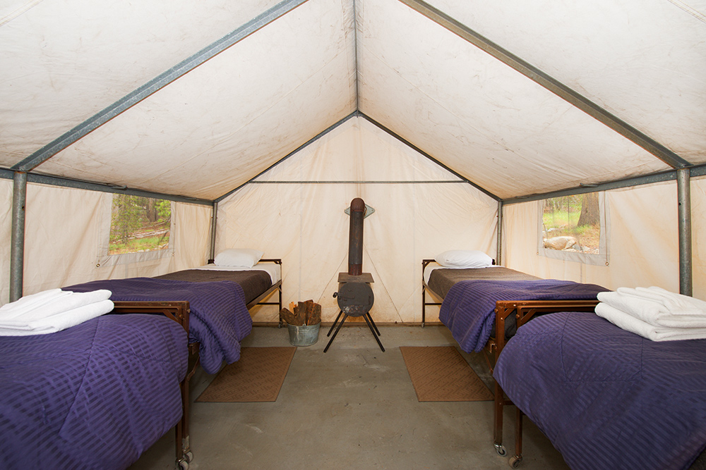 Canvas Tent Cabins at Tuolumne Meadows Lodge