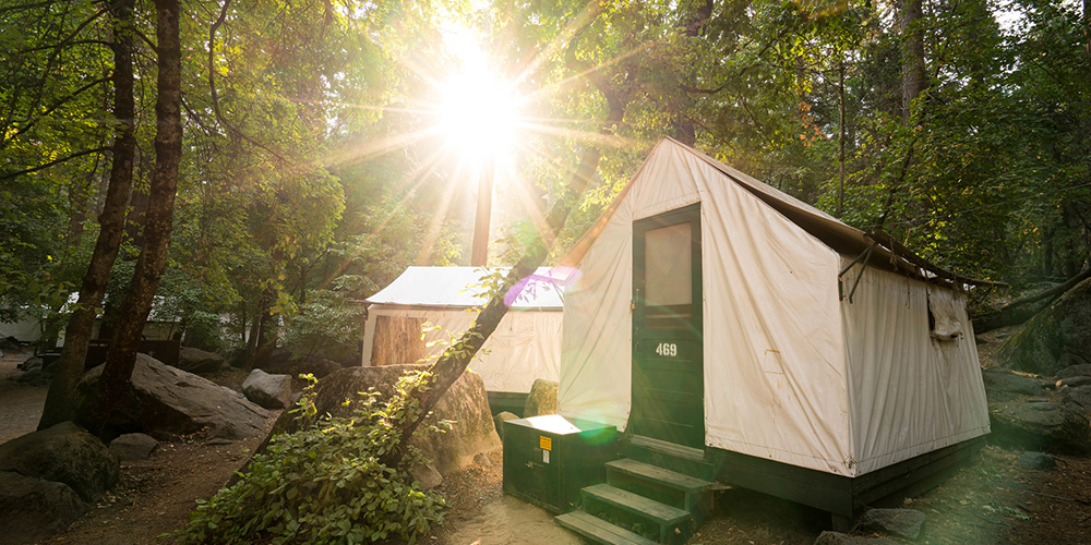 Half Dome Village. The famed canvas tent cabins ... & Yosemite Lodging Experience | Yosemite National Park CA ...