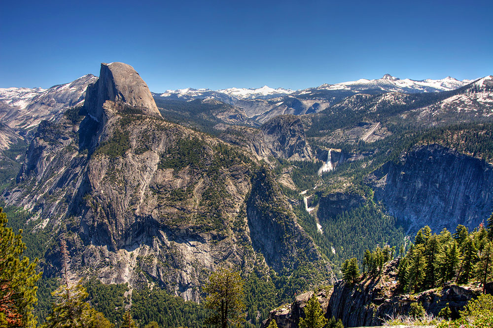 Enjoy spectacular views of the Glacier Point Tour.