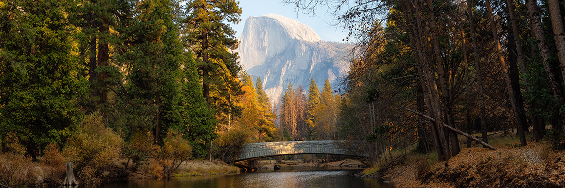 Merced River and Half Dome in Yosemite National Park